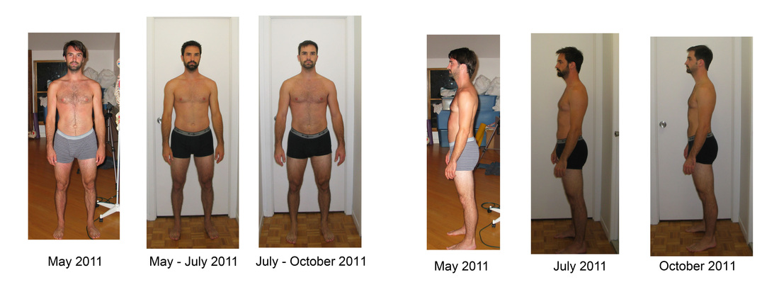 "example of ""Before and After Pictures"" of Randall Lightbown. This is an example of a ""regular"" person's expectations."